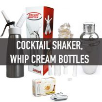 กระบอกวิปครีม Cream Whipper, Cocktail Shakers