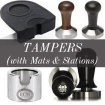 แทมเปอร์, ยางรองแทมป์ (Tampers, Tamping Mats, Tamping Stations)
