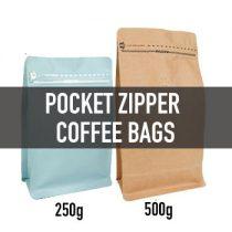 ถุงทรง Pocket Zipper (ซิปข้าง+valve)