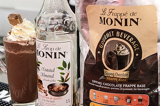 MONIN Recipe: Toasted Almond Chocolate Blended Drink