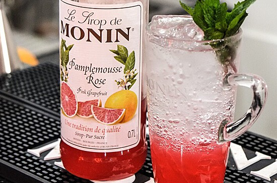 MONIN Recipe: Pink Grapefruit Sparkling Soda