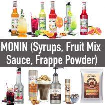 น้ำเชื่อม ไซรัป Monin และ ซอส Monin (Flavored Syrups, Puree, Sauces, Frappe Powder)