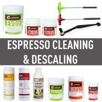 แปรง และผงความสะอาดหัวกรุ๊ป (Espresso Cleaning & Descaling)